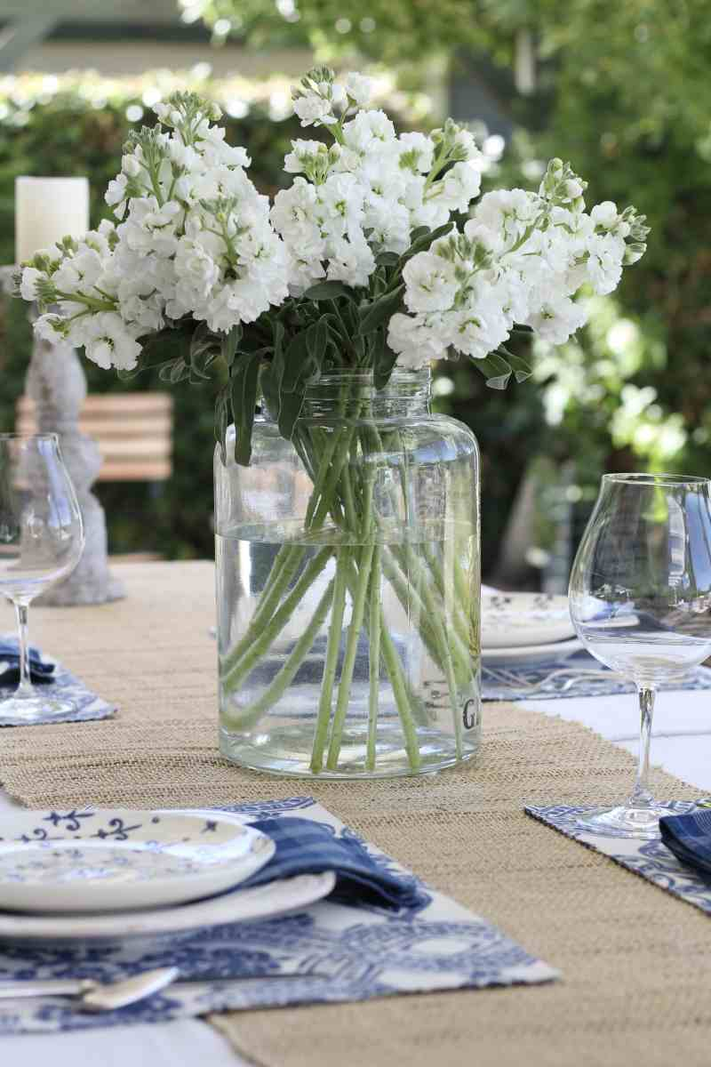 Styled + Set: Simple Summer Tablescape in Blue and White