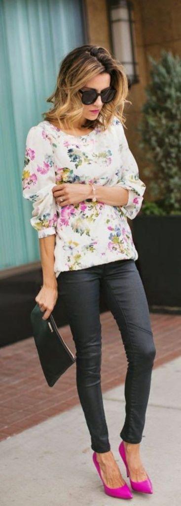 pink-accessories-heels-floral-top