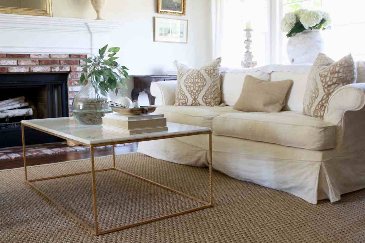 New Hardwood Floors and Seagrass Rugs - the Full Reveal!