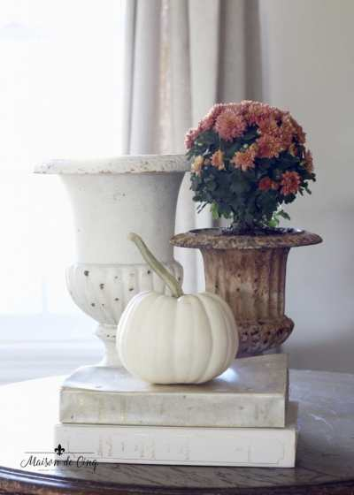 autumn's in the air blog tour maison de cinq french country fall vignette