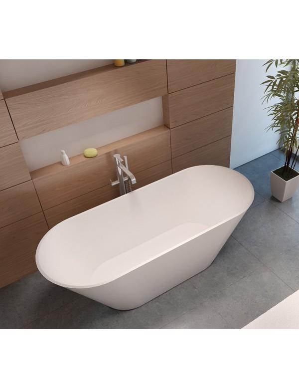 baignoire ilot en solid surface riho barcelona 170x70 cm