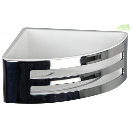 porte savon d angle panier a deux lucarnes novellini en metal chrome
