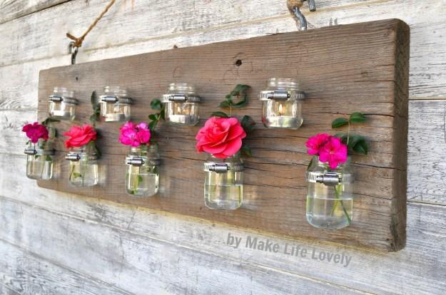 Baby Food Jar Vase & Candleholder 4