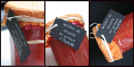 Confiture de Tomates au piment d'Éspelette