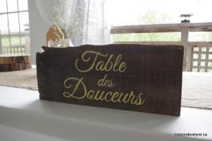 Table des douceurs