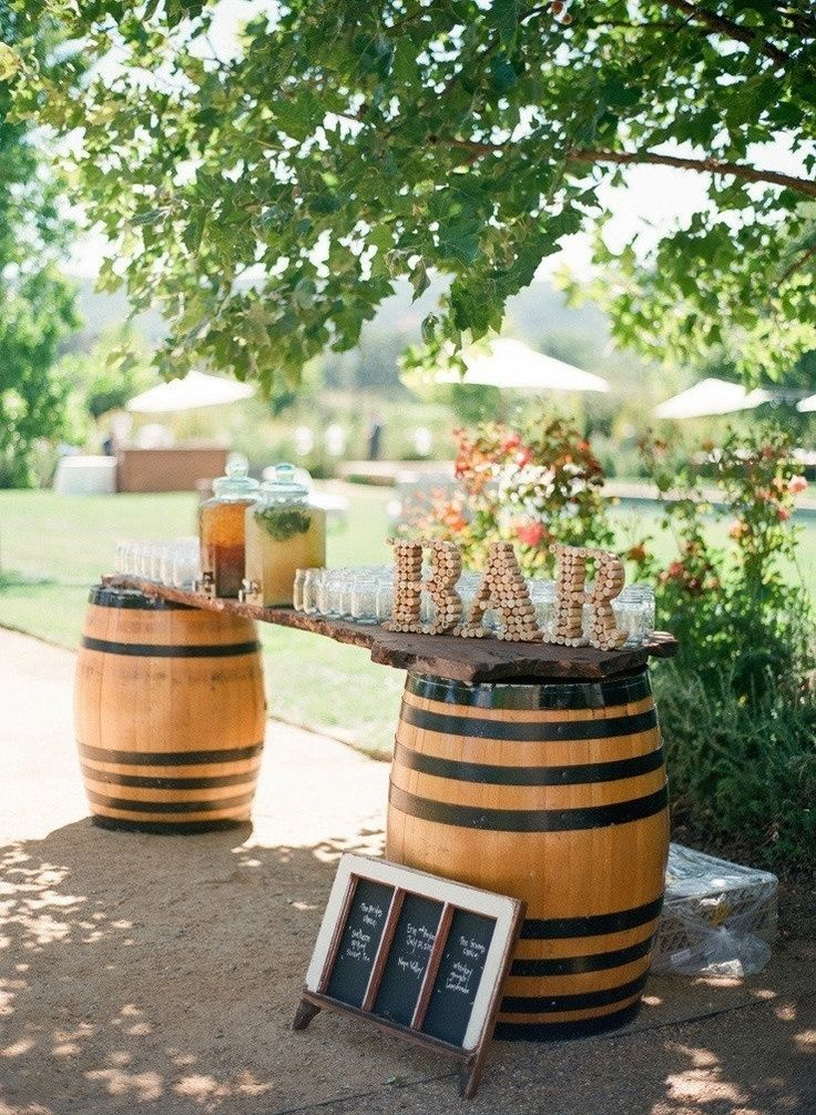 Vineyard-Wine-Barrels-Wedding-Bar