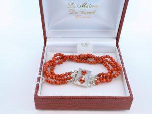 Bracelet en corail rouge véritable de Méditerranée et argent 925 par 1000 BR-CO-AR-044