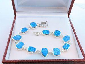 bracelet en opale et argent 925 par 1000 BR-OP-BL-010
