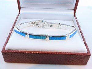 bracelet en opale et argent 925 par 1000 BR-OP-BL-011