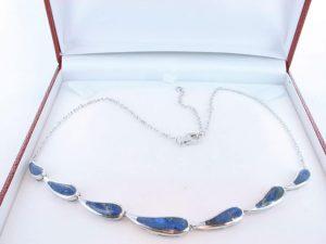 Collier en lapis lazuli et argent 925 par 1000 CO-LA-LA-AR-001