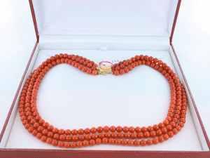 Collier en corail rouge et or 750 par 1000 CO-CO-OR-007