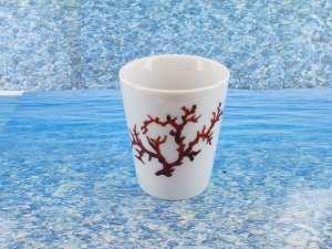 Tasse en porcelaine blanche décor corail PO-BL-CO-003 corail PO-BL-CO-030