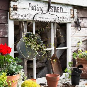 Potting Shed groot sjabloon