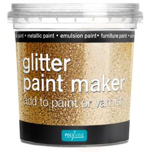 Glitter paint maker Goud