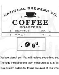 Koffie sjabloon groot 3 delen