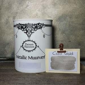 Metallic muurverf Cold Gold 1 liter Maisonmansion
