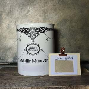 Metallic muurverf Just Gold 1 liter Maisonmansion