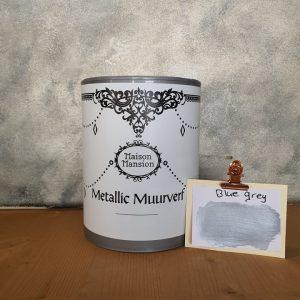 Blue Grey Metallic muurverf 1 liter Maisonmansion