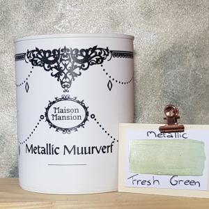 Metallic muurverf Fresh Green 1 liter Maisonmansion