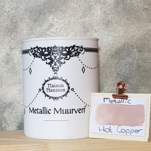 Metallic muurverf Hot Copper 1 liter Maisonmansion