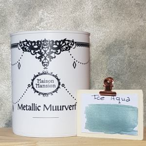 Metallic muurverf Ice Aqua 1 liter Maisonmansion