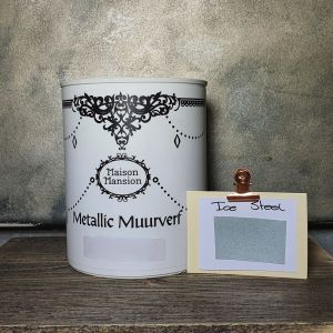 Metallic muurverf Ice Steel 1 liter Maisonmansion