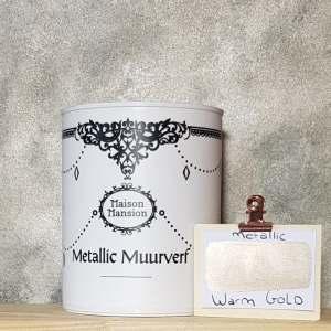 Metallic muurverf Warm Gold 1 liter