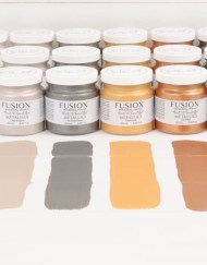 Fusion Mineral Paint Metallic Brushed Steel 250 ml