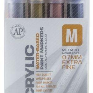 Montana acrylic set 0,7mm Metallic – 4 Markers
