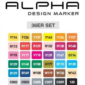 Montana Alpha marker set 36
