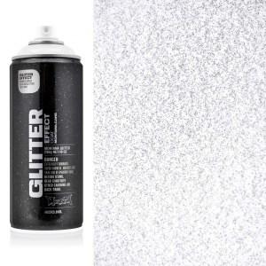 Glitter effect spuitbus Zilver Montana
