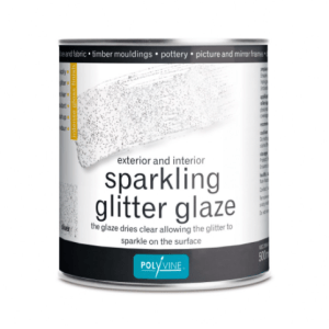 Zilver glitter vernis