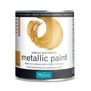 Metallic Bright Gold Polyvine