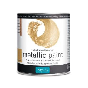 Metallic Pail Gold Polyvine 1 liter