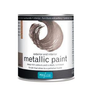 Metallic Paint Pewter Polyvine 1 liter