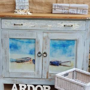 Coastal Blue decoupage