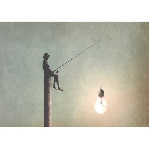 Fishing For Ideas decoupage