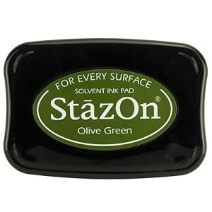 Olive Green Inkt StaZon