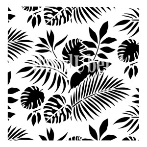 Tropical Leaves sjabloon 50 x 50 cm