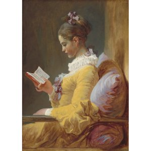 Young Girl Reading decoupage