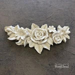 Flower Garland 11,5 x 5,5 cm WoodUbend 0348
