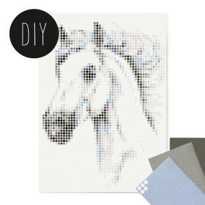 Paard DIY poster 50 x 70 cm
