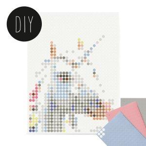 Unicorn kids Dot art 30 x 40 cm