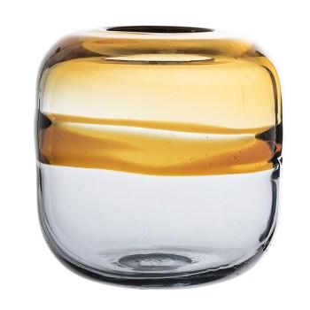 vase jaune en verre bloomingville