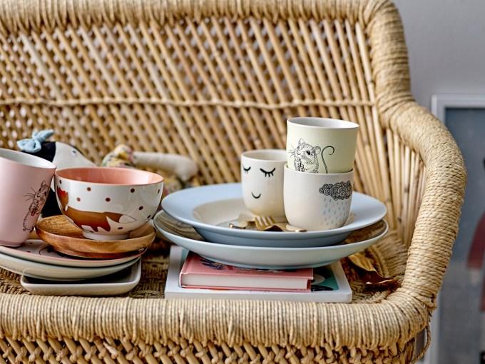 ensemble de 4 assiette colorés bloomingville mini
