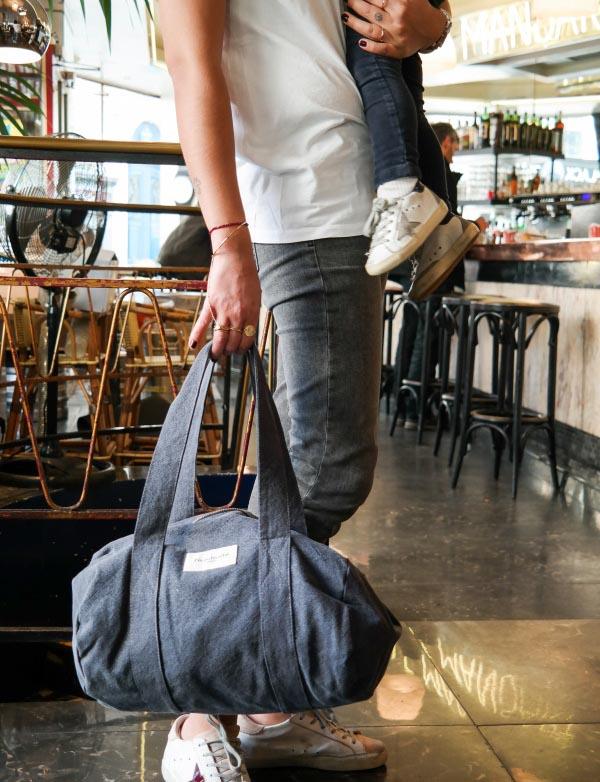 sac polochon ballu gris rive droite