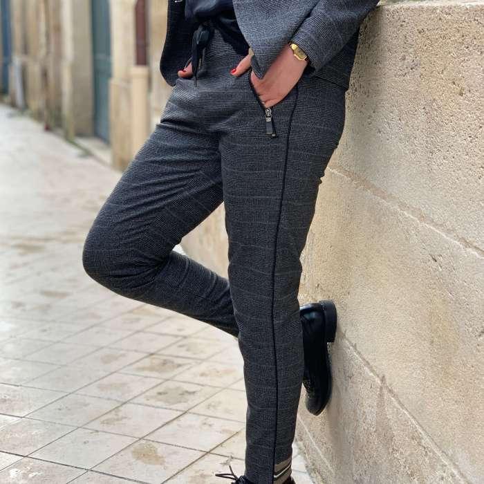 pantalon-imprimé-prince-de-galles-tailleur-mos-mosh-maison-prune