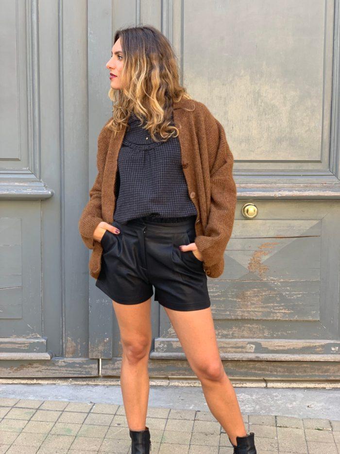 short cuir, short simili cuir, basique de la garde robe