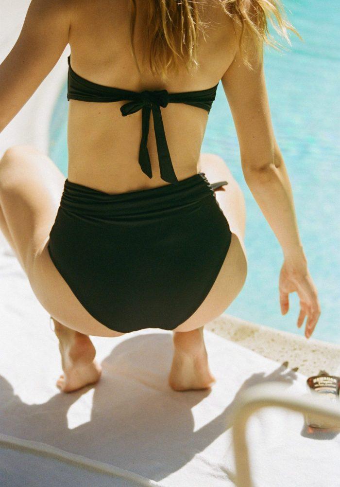bandeau bel air, culotte bel air, maillot de bain bel air, maillot de bain icône, icône lingerie, maison prune