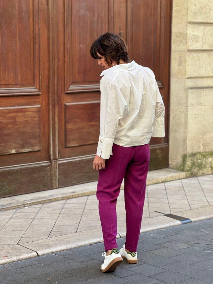pantalon pako, tailleur fuchsia, pako litto